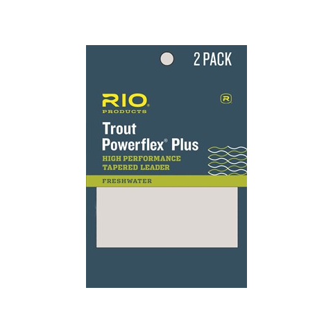rio RIO Knotless Powerflex Plus Tapered Leaders 2-PAK