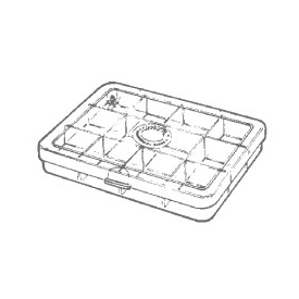 myran MYRAN M1120 12-Compartment Fly Box