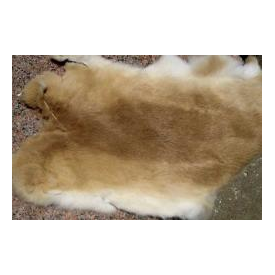 feather-craft Rabbit Hide - Ed's 1/4 Hides (tan to cream)