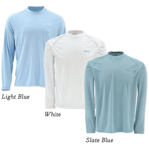 SIMMS Solarflex Crewneck Shirt - SOLID COLORS