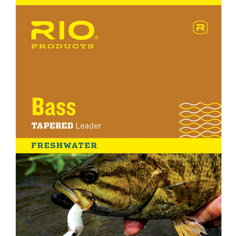 rio RIO Knotless Bass 9-Foot Tapered Leaders