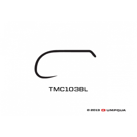 tiemco TMC 103BL Black Barbless Dry-Fly Hook