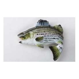 Hand Painted Striped Bass Leaping Pin