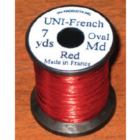 UNI French Oval Tinsel - RED