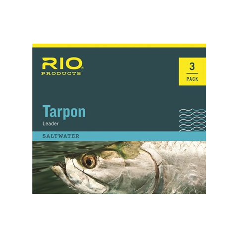 RIO Hand Tied 6ft Tarpon Leaders w/ Fluorocarbon Shock Tippet 3-PAK