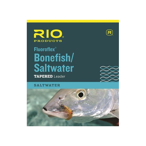 rio RIO Knotless Fluoroflex Bonefish/Saltwater 9-Foot Tapered Leaders