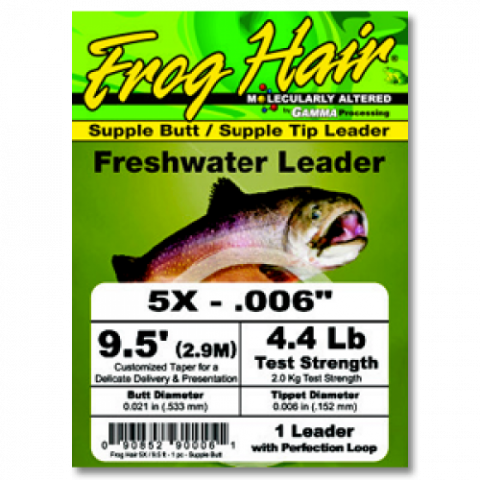 frog hair FROG HAIR Knotless High Performance 9.5-Foot Tapered Leaders