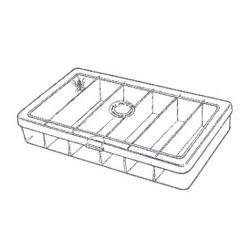 myran MYRAN M3003 6-Long Compartment Fly Box