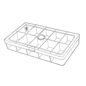 myran MYRAN M6000 10-Compartment Fly Box