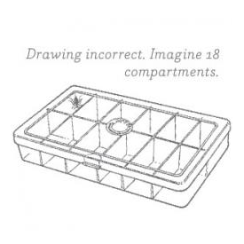 myran MYRAN M1800 18-Compartment Fly Box