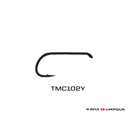 tiemco TMC 102Y Wide-Gap Black Dry Fly Hook