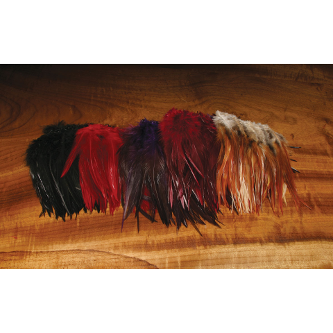 crafts BLACK  # 16 fly tying color Premium  Dry Fly Saddle Hackle Feathers