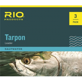 rio RIO Hand Tied 6ft Tarpon Leaders w/ Fluorocarbon Shock Tippet 3-PAK