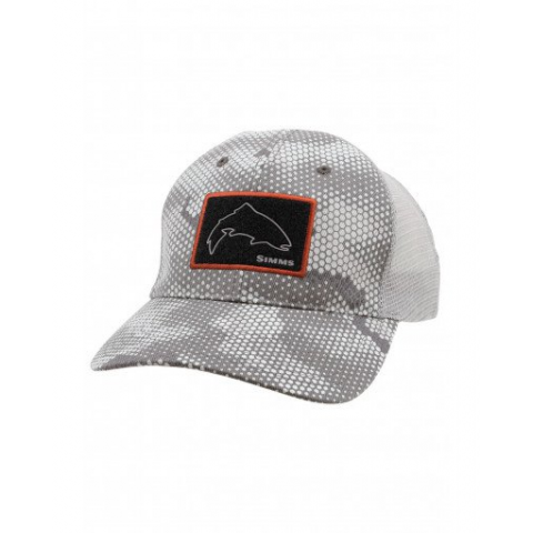 simms Simms High Crown Patch Trucker
