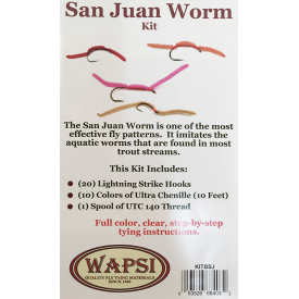 wapsi San Juan Worm Fly Tying Kit