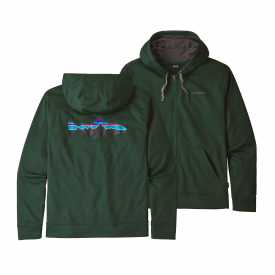 patagonia PATAGONIA Fitz Roy Trout Polycycle Full Zip Hoody