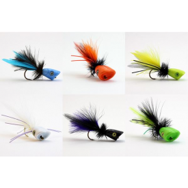 flymen fishing company SURFACE SEDUCER Double Barrel Poppers 2.0