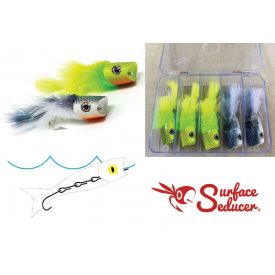 flymen fishing company SURFACE SEDUCER Howitzer Articulated Baitfish - 5-Popper Selection