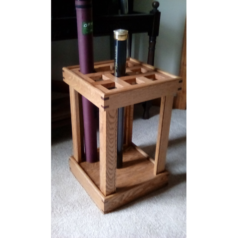 by David Marty Hand Crafted Oak Rod Rack