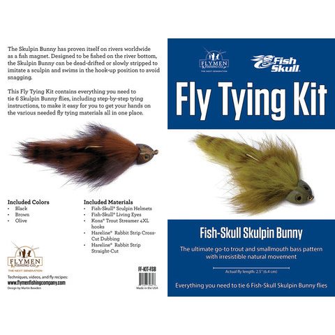flymen fishing company FLYMEN Fish-Skull Sculpin Bunny Fly Tying Kit