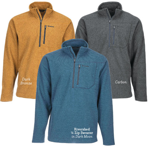 simms SIMMS Rivershed 1/4 Zip Sweater