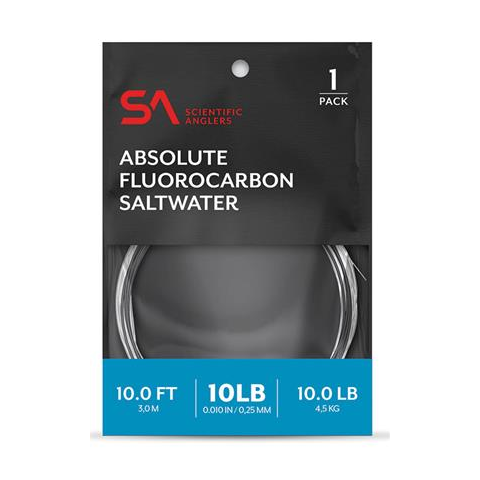 scientific anglers SA ABSOLUTE 10-Foot Fluorocarbon Saltwater Leader