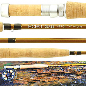 echo ECHO Small Water Glass Fly Rods