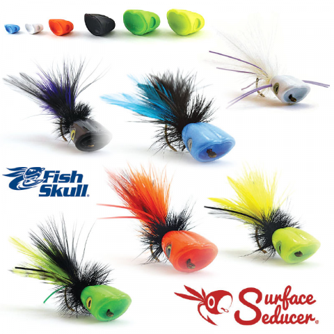 flymen fishing company FISH SKULL Surface Seducer Popper/Slider Heads