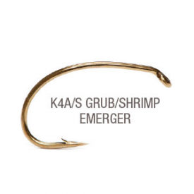 partridge PARTRIDGE K4A/S Grub/Shrimp/Emerger Hook