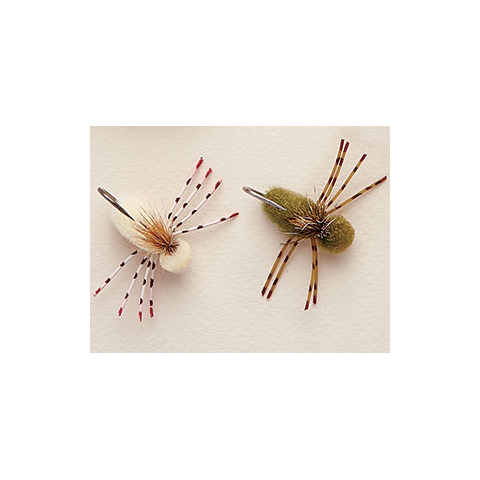 4QTY TURNEFEE CRAB OLIVE FLY FISHING FLIES  SIZE 4